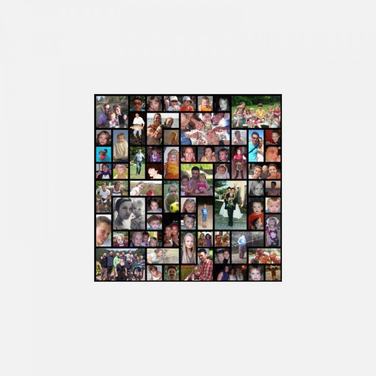 Pêle-mêle photo personnalisé Tetrix. 50 x 50 cm - © Copyright efotix.com